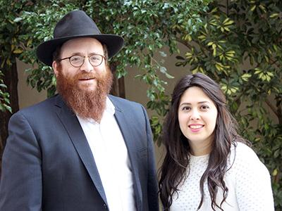 Rabino Mendy y Lea Gurevitch