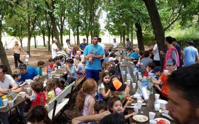 Campamento de padres e hijos