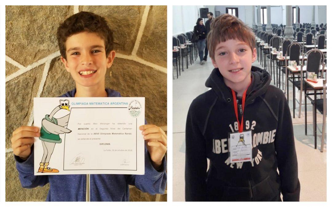 ¡Wolfsohn llegó a la Final Nacional de la Olimpiada Matemática Argentina – Ñandú!