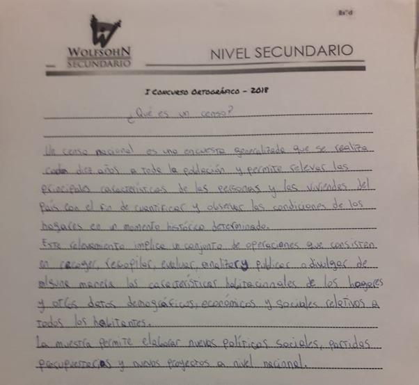 I Concurso de Ortografía en el Secundario